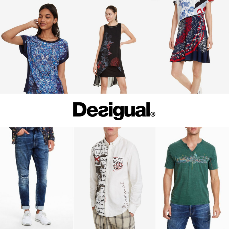 DESIGUAL WOMEN'S, MEN'S SPRING COLLECTION LATEST OFFERS