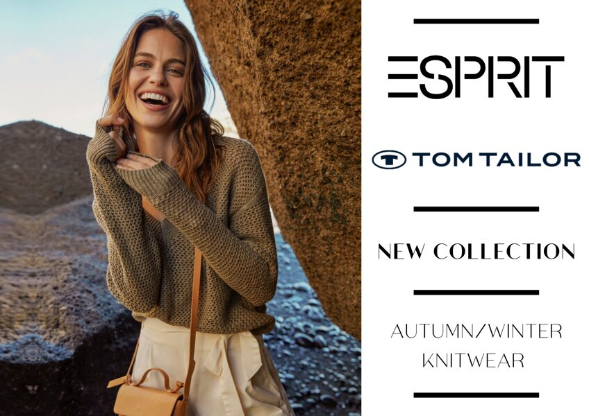 ESPRIT AND TOM TAILOR WOMEN'S KNITWEAR COLLECTION - FROM 5,40 EUR / PC